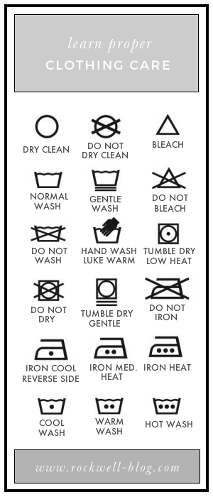 Wash Care Symbols Decoded Rockwell