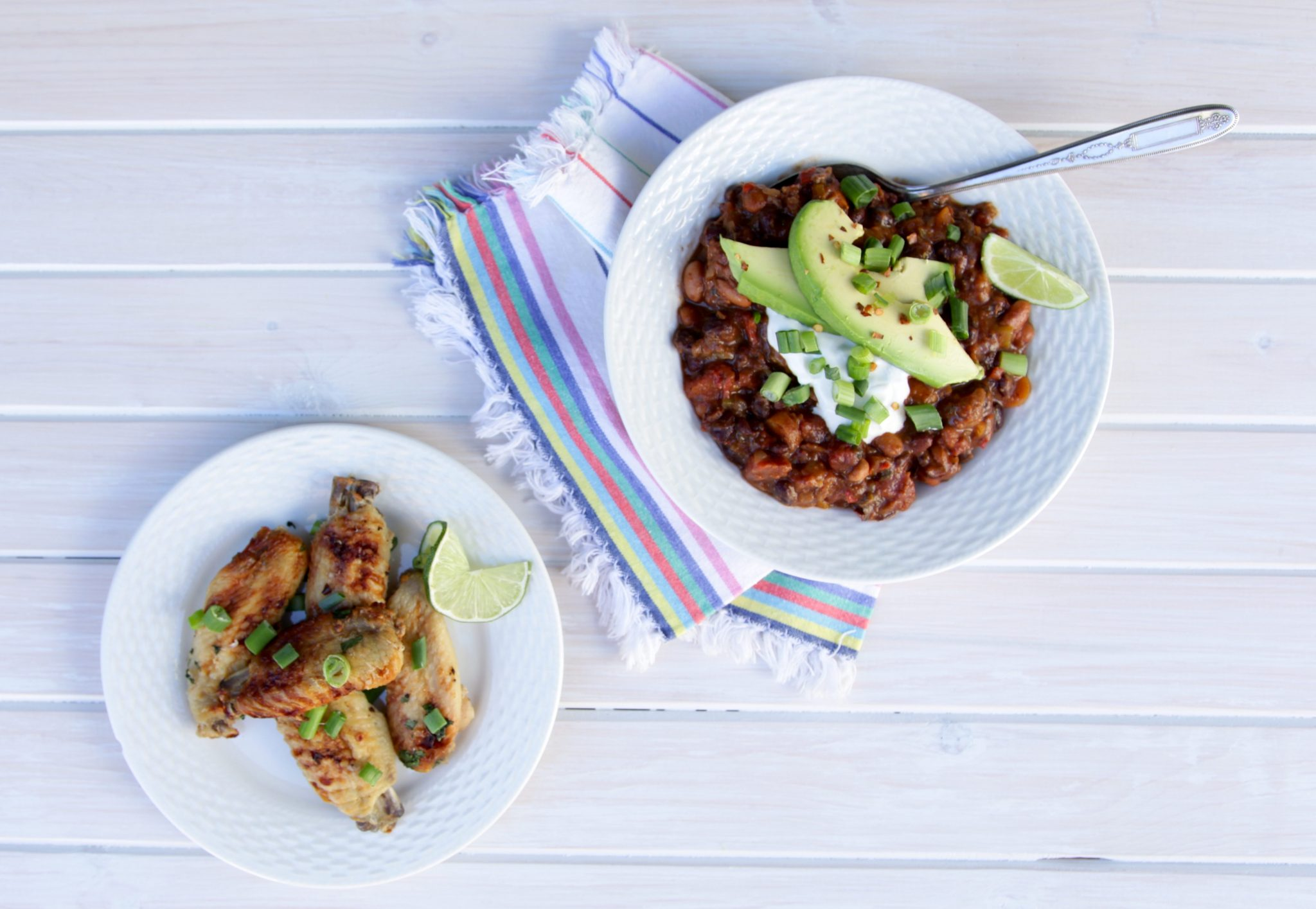 Tequila Lime Chicken Wings & Vegetarian Chili | Rockwell